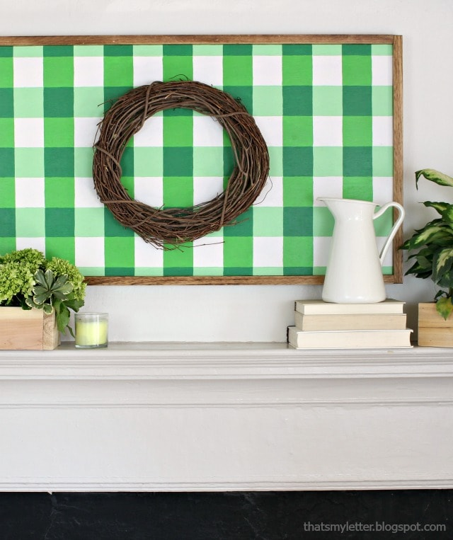 frame large gingham painting