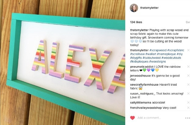 diy wood frame with painted trim on instagram