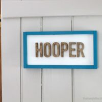 DIY Wood Cut Out Name Plaque