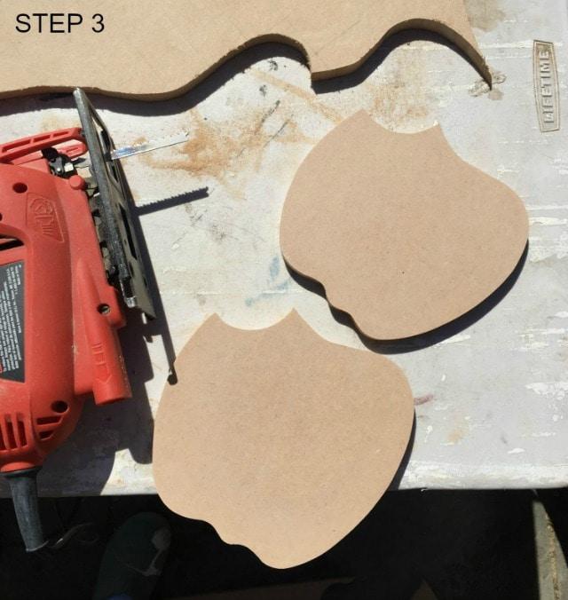 apple shape cut from MDF