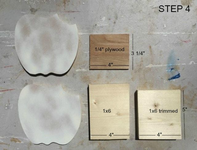 scrap wood parts for apple pencil holder