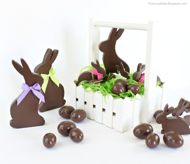 diy faux chocolate easter eggs