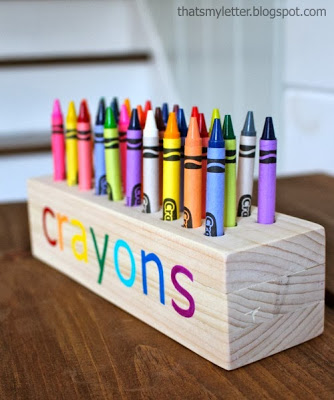 diy wood crayon holder