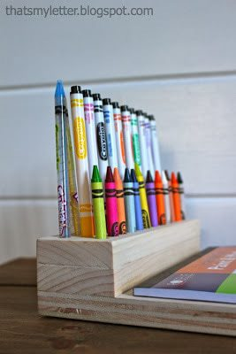 crayon holder built into lap desk