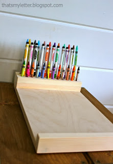 crayon holder attached to lap desk