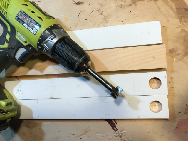 predrill holes for basket handle