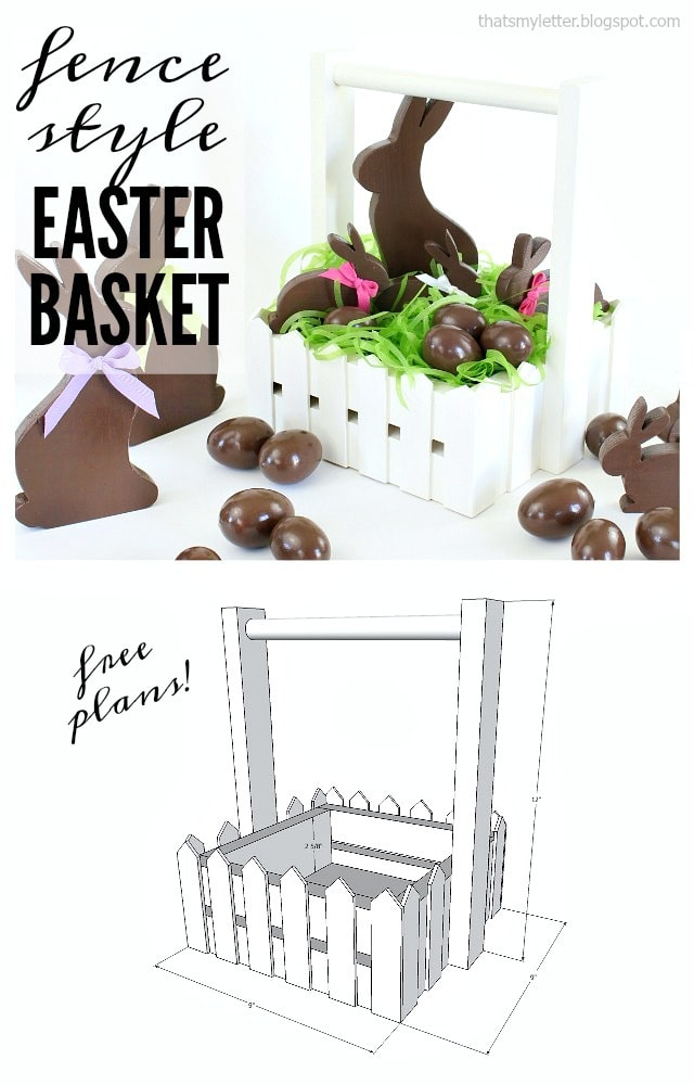 diy easter basket free plans