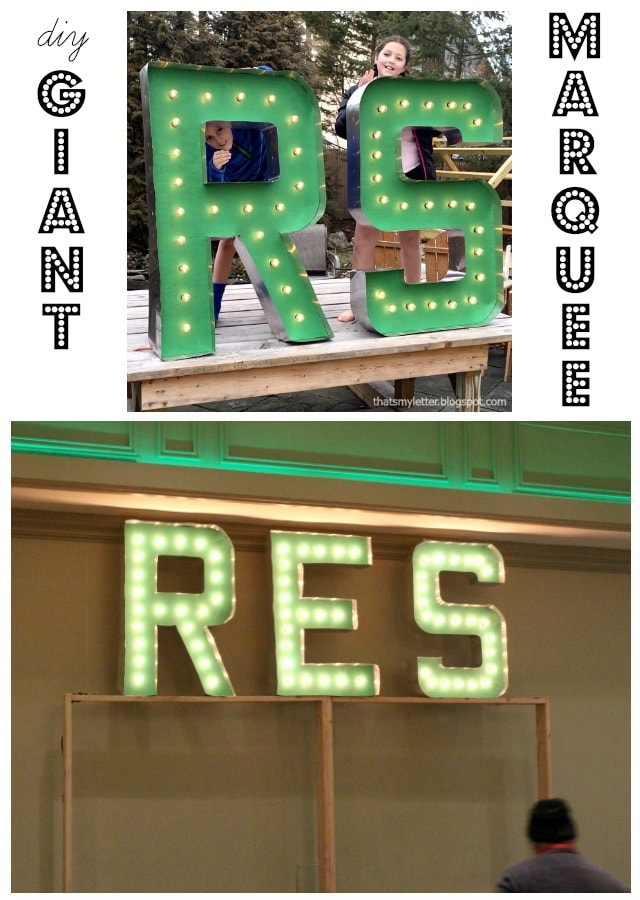 diy giant marquee letters tutorial