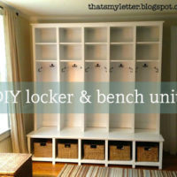 DIY Locker & Bench Units