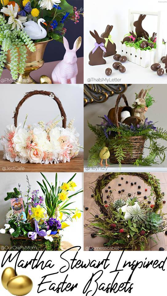Martha Stewart inspired Easter baskets