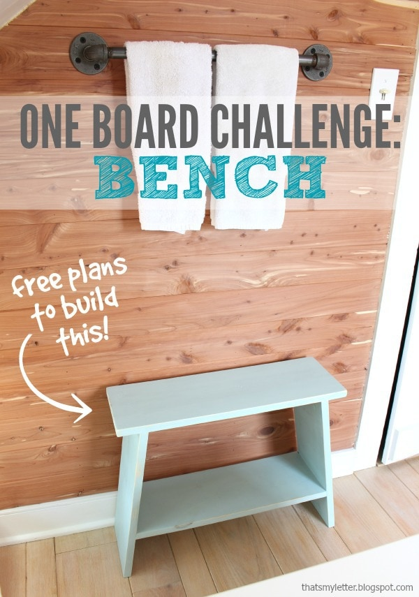 diy simple bench from one board