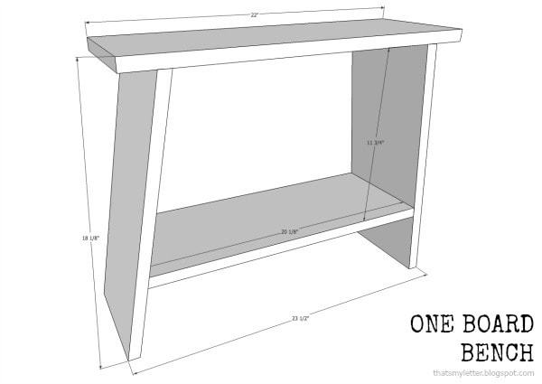 free plans for one board bench