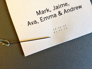 perforated cardstock using a needle