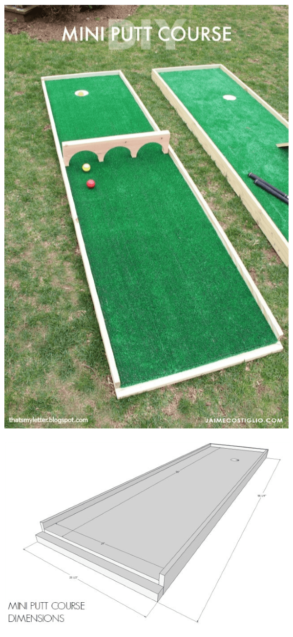 DIY Mini Putt Course & Ryobi Tool Giveaway - Jaime Costiglio