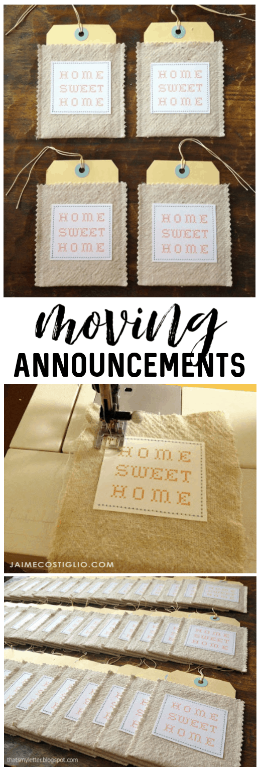 diy moving announcements