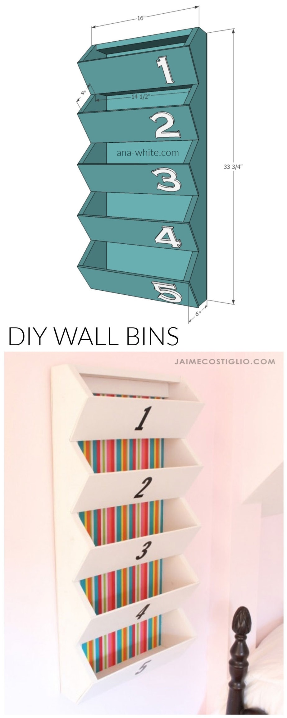 diy wall bins free plans