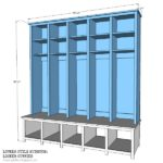 Locker Style Mudroom: Locker Cubbies