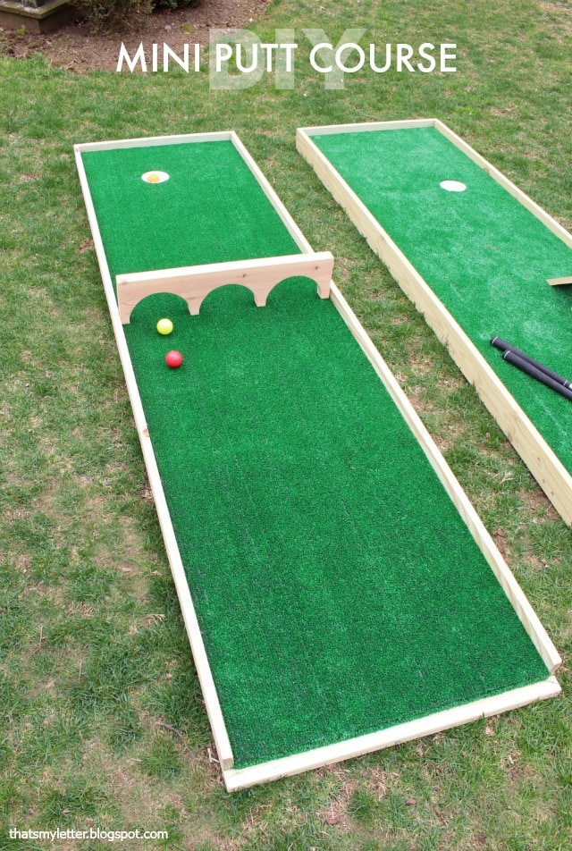diy mini putt course