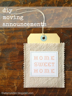 manilla tag inside drop cloth pocket moving announcement