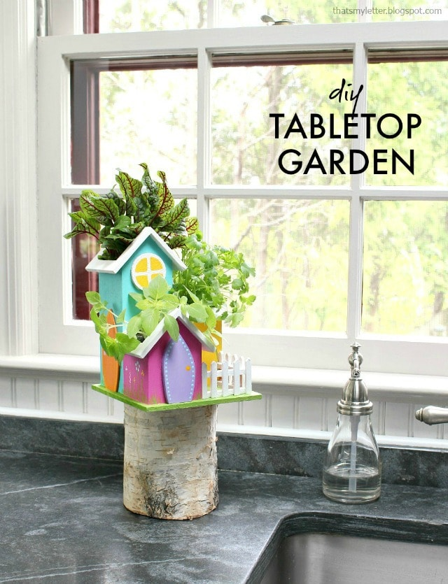 diy tabletop herb garden