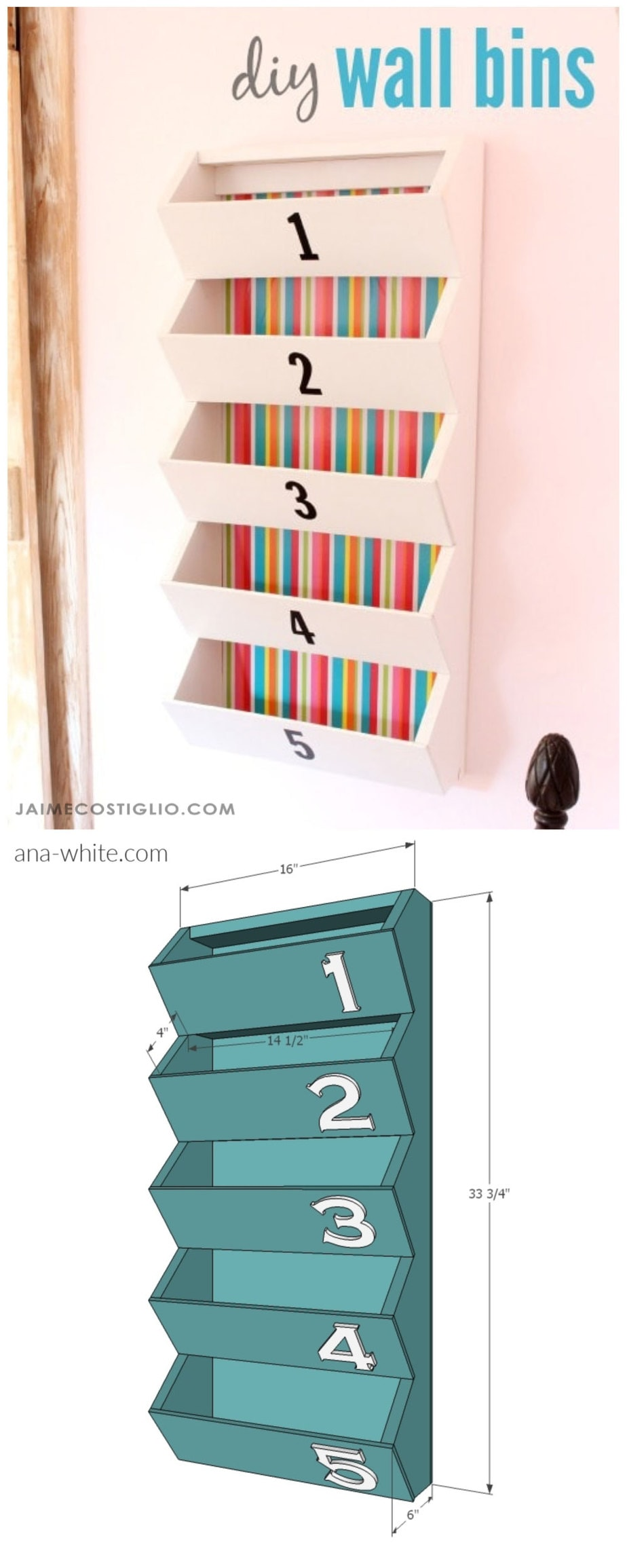 wall bins storage project