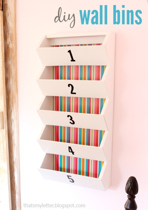 diy wall bins