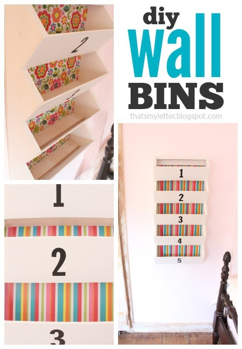 diy wall bins collage