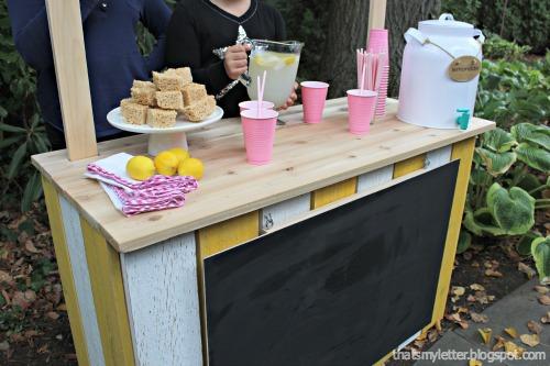 diy kids lemonade stand using cedar