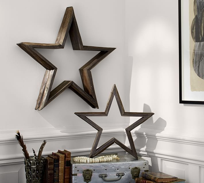 pottery barn milled log stars