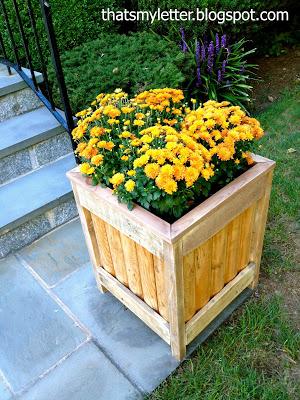 diy planter on sidewalk