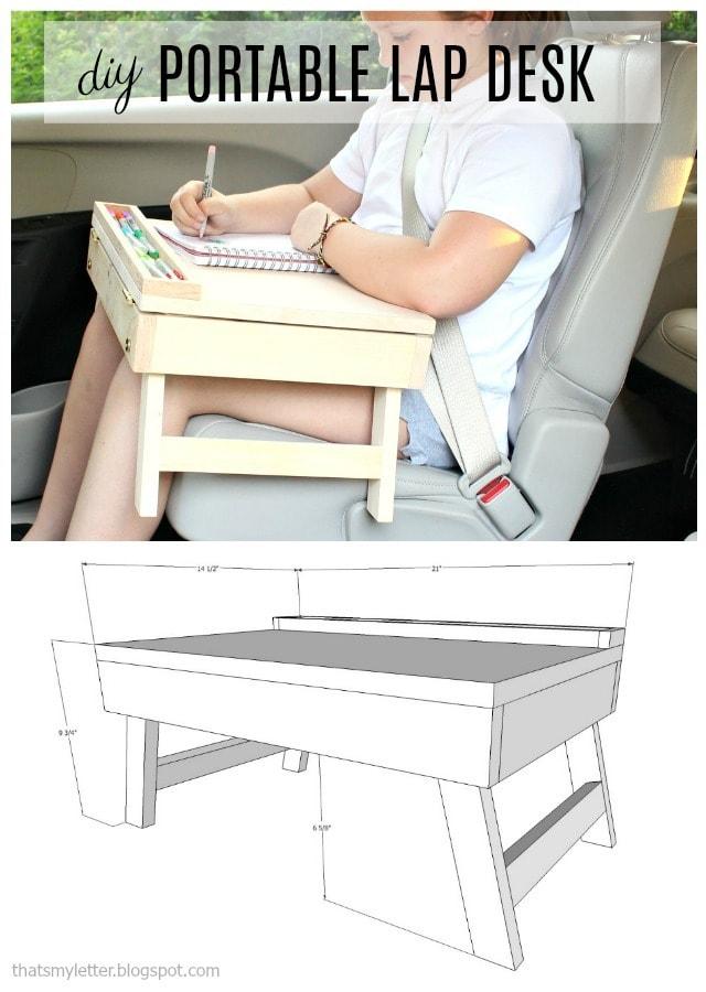 diy portable lap desk free plans