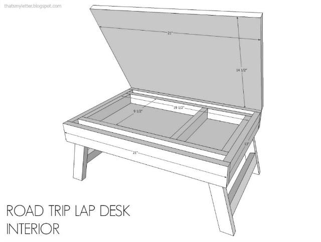 Diy Road Trip Lap Desk Amp Giveaway Jaime Costiglio