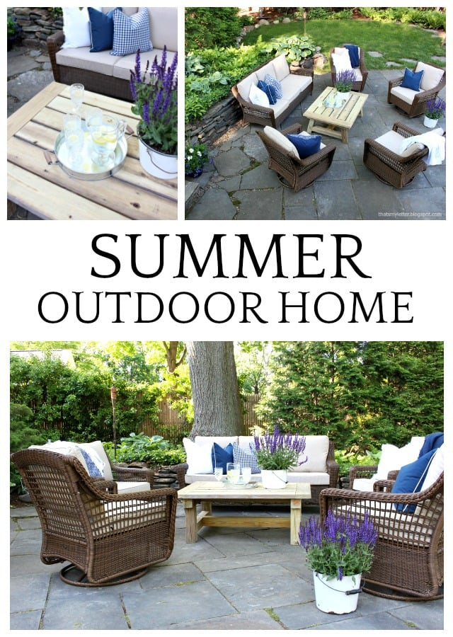 summer home tour outdoor patio space