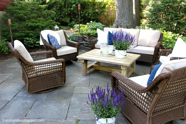 outdoor summer patio lounge furniture