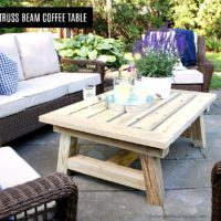 DIY Truss Beam Coffee Table Free Plans
