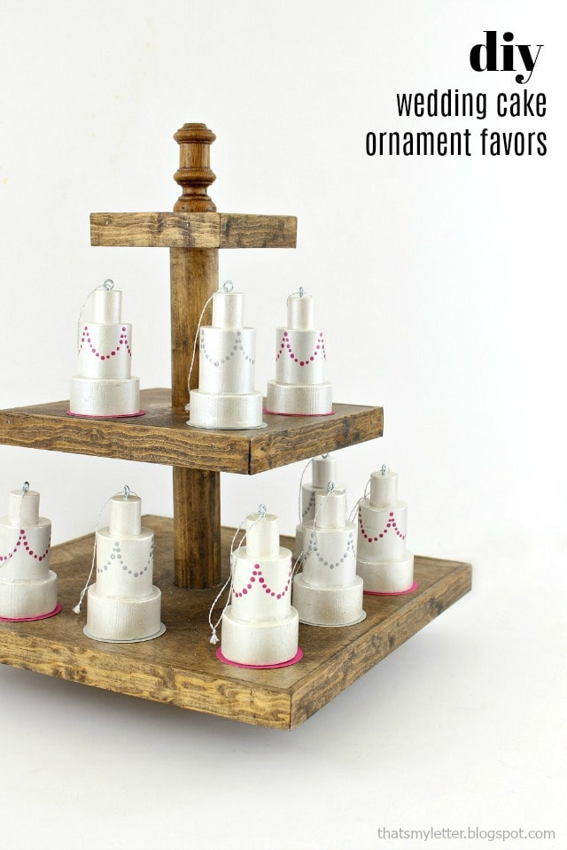 diy wedding cake ornament favors