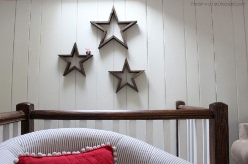 wood stars on wall