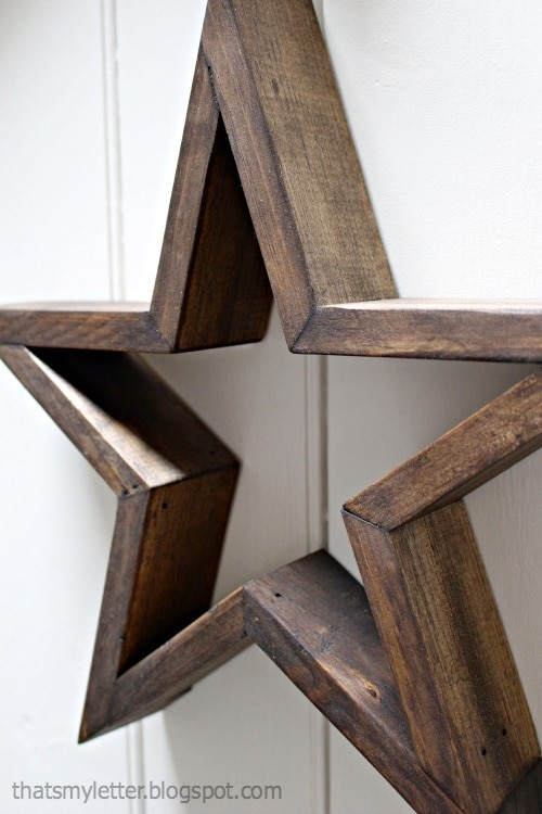 wood stars from scrap wood