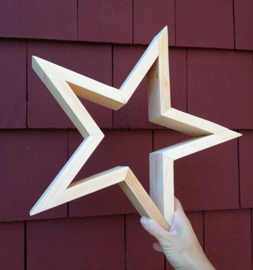 handmade wood star complete
