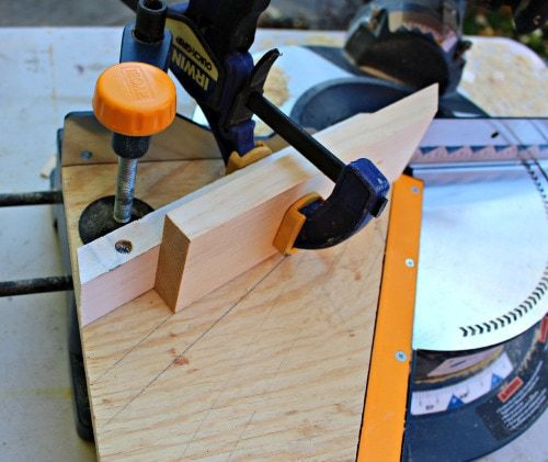 wedge jig on miter saw