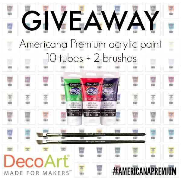 decoart americana premium acrylic paint giveaway