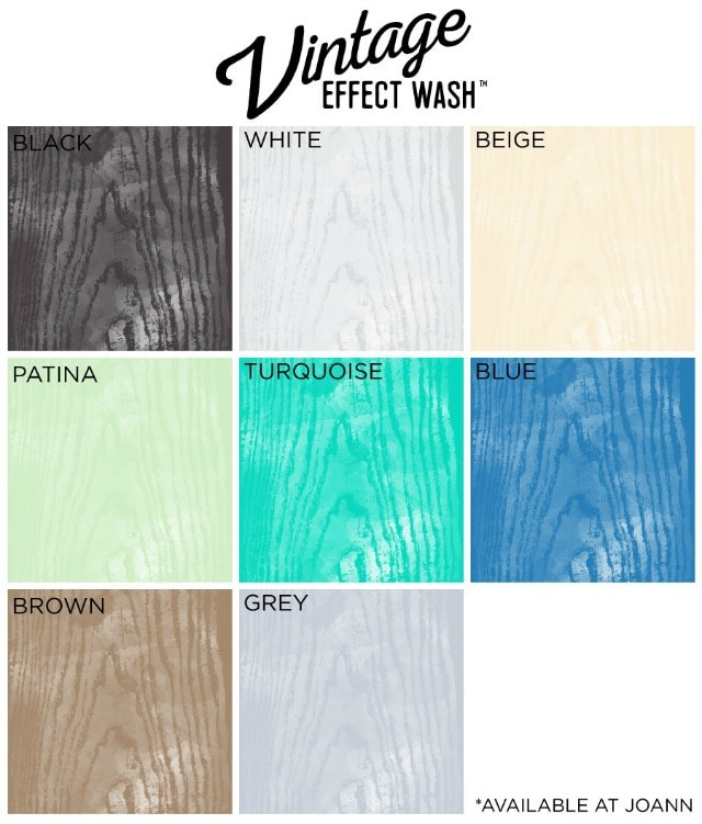vintage effect wash colors