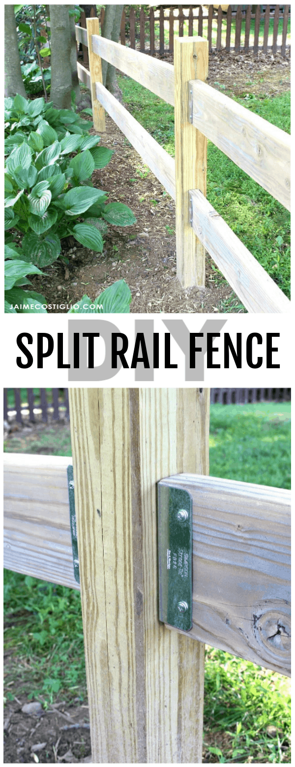 diy split rail fence