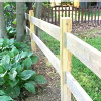 DIY Split Rail Fence with Simpson Strong-Tie Connectors