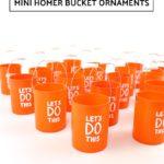 DIY Mini Homer Bucket Ornament