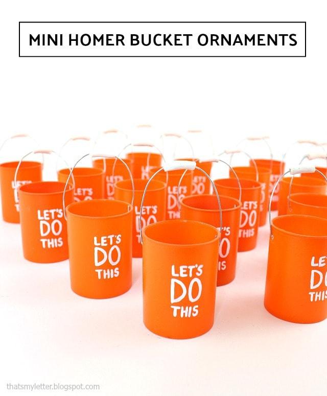 mini homer bucket ornaments