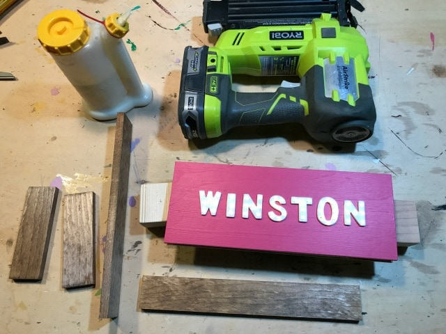 adding frame to mini marquee sign