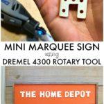 DIY Mini Marquee Sign using Dremel 4300 Rotary Tool