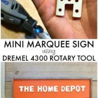 DIY Mini Marquee Sign using Dremel 4300 Rotary Tool