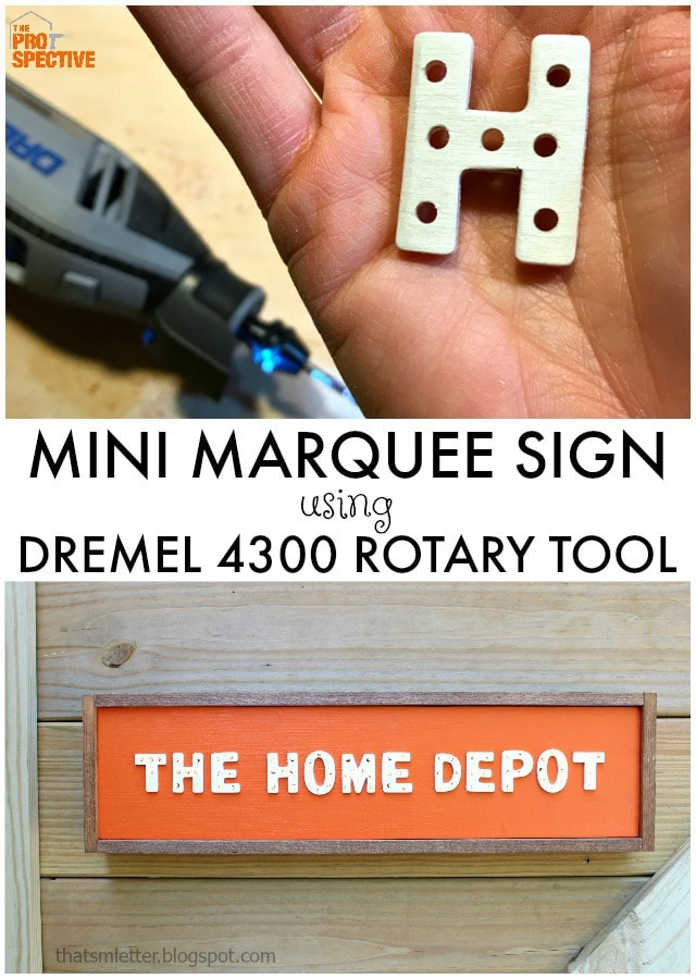 mini marquee sign with dremel rotary tool